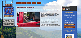 DJ's Drive In by TreeLine Web Design